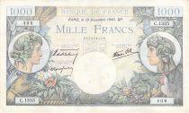France 1000 Francs Commerce et Industrie - 19-12-1940 Série C.1335 - TTB