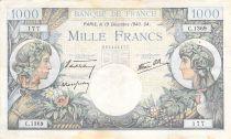 France 1000 Francs Commerce et Industrie - 19-12-1940 Série C.1369 - TB+