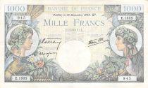 France 1000 Francs Commerce et Industrie - 19-12-1940 Série E.1335 - TTB