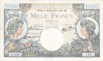 France 1000 Francs Commerce et Industrie - 19-12-1940 Série N.1336 - TTB