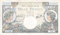 France 1000 Francs Commerce et Industrie - 19-12-1940 Série N.1336 - TTB