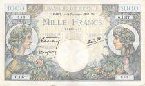 France 1000 Francs Commerce et Industrie - 19-12-1940 Série Q.1377 - TTB