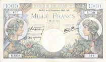 France 1000 Francs Commerce et Industrie - 19-12-1940 Série R.1354 - PTTB