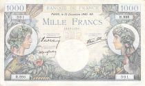France 1000 Francs Commerce et Industrie - 19-12-1940 Série R.986 - TTB