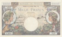 France 1000 Francs Commerce et Industrie - 1944 - Série E.3620