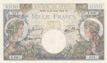 France 1000 Francs Commerce et Industrie - 20-07-1944 Série X.4541
