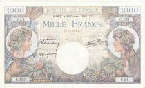 France 1000 Francs Commerce et Industrie - 24-10-1940 - Série C.435 - SUP