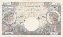 France 1000 Francs Commerce et Industrie - 24-10-1940 Série N.464 - TB