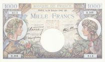 France 1000 Francs Commerce et Industrie - 24-10-1940 Série R.368 - SUP+