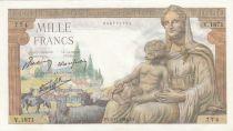 France 1000 Francs Déesse Déméter - 05-11-1942 - Série V.1871