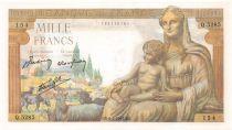 France 1000 Francs Déesse Déméter - 06-05-1943 Série Q.5285 - SPL