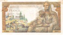 France 1000 Francs Déesse Déméter - 07-01-1943 Série G.2988 - TB