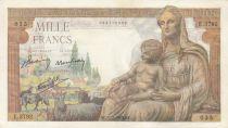 France 1000 Francs Déesse Déméter - 11-02-1943 - Série E.3792