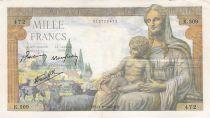 France 1000 Francs Déesse Déméter - 11-06-1942 - Série K.509 - TB