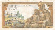 France 1000 Francs Déesse Déméter - 13-08-1942 Série B.951 - TB+