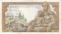 France 1000 Francs Déesse Déméter - 18-02-1943 - Série Z.4301