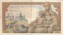 France 1000 Francs Déesse Déméter - 18-02-1943 Série B.4245 - TTB