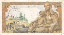 France 1000 Francs Déesse Déméter - 18-02-1943 Série S.4268 - TB