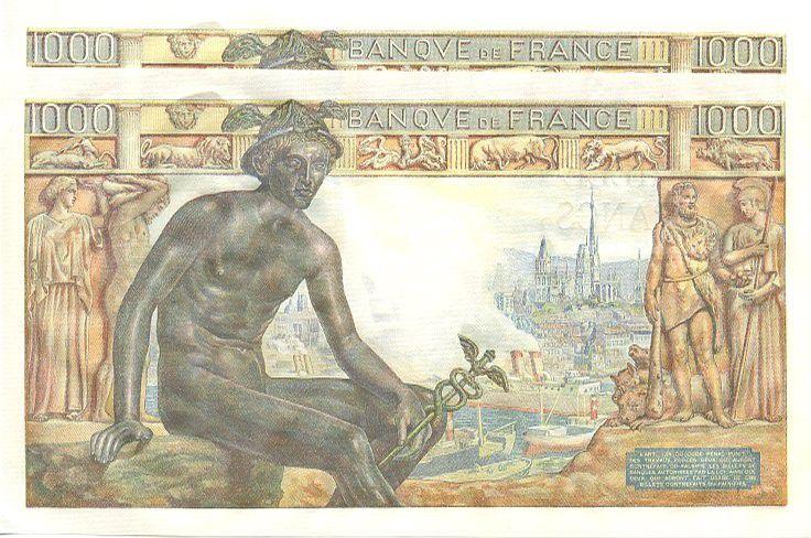 France 1000 Francs Déesse Déméter - 1942