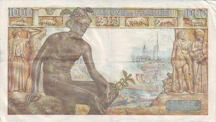 France 1000 Francs Déesse Déméter - 1943
