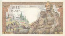 France 1000 Francs Déesse Déméter - 22/7/1943 Série L. 7068