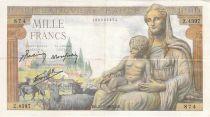 France 1000 Francs Déesse Déméter - 25-02-1943 - Série Z.4397 - TTB