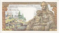 France 1000 Francs Déesse Déméter - 25-02-1943 Série R.4529