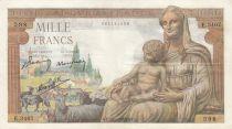 France 1000 Francs Déesse Déméter - 28-01-1943 - Série E.3407