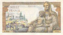 France 1000 Francs Déesse Déméter - 28-01-1943 - Série J.3702 - PTTB