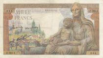 France 1000 Francs Déesse Déméter - 28-01-1943 - Série O.3614