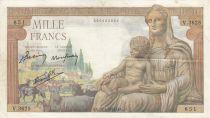 France 1000 Francs Déesse Déméter - 28-01-1943 - Série V.3625