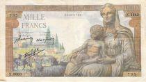 France 1000 Francs Déesse Déméter - 28-01-1943 - Série X.3683 - PTTB