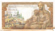 France 1000 Francs Déesse Déméter - 28-01-1943 Série E.3638 - TB