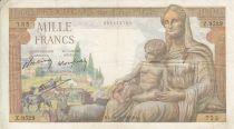 France 1000 Francs Déesse Déméter - 28-10-1943 Série Z.9529