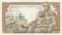 France 1000 Francs Déesse Déméter - 29-04-1943 - Série S.5044