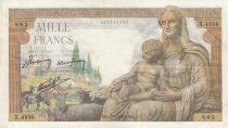 France 1000 Francs Déesse Déméter - 29-04-1943 - Série X.4936