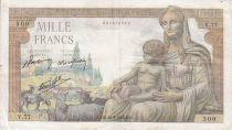 France 1000 Francs Déesse Déméter - années 1942 à 1944