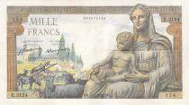France 1000 Francs Demeter - 03-12-1942 - Serial E.2124 - F to VF