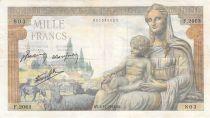 France 1000 Francs Demeter - 03-12-1942 - Serial F.2063 - F+