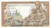 France 1000 Francs Demeter - 05-11-1942 - Serial R.1862