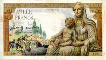 France 1000 Francs Demeter - 05-11-1942 Serial G.1769 - VF