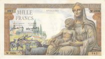 France 1000 Francs Demeter - 07-01-1943 - Serial W.2826 - VF
