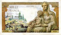 France 1000 Francs Demeter - 07-01-1943 Serial N.2781 - VF