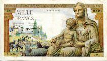 France 1000 Francs Demeter - 08-10-1942 Serial B.1478 - VF
