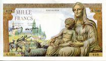 France 1000 Francs Demeter - 08-10-1942 Serial G.1523 - VF+