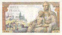 France 1000 Francs Demeter - 11-02-1943 - Serial H.3848 - VF