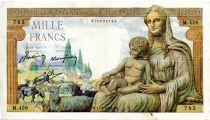 France 1000 Francs Demeter - 11-06-1942 Serial M.426 - VF