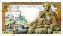 France 1000 Francs Demeter - 11-06-1942 Serial M.541 - VF