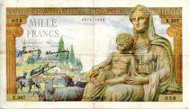 France 1000 Francs Demeter - 11-06-1942 Serial Z.307 - VF