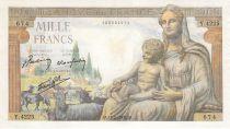 France 1000 Francs Demeter - 18-02-1943 - Serial Y.4225 - F+